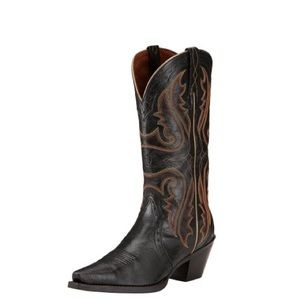 Women's Ariat Heritage X-toe Old Black Boots
